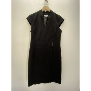 Calvin Klein Short Sleeve Solid Sheath Dress Black